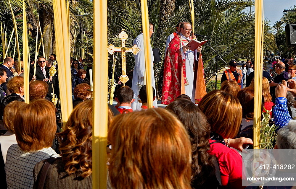 Blessing of the palm Palm Sunday procession procesion de Jesus triunfante, Elche  Alicante province, Comunidad Valenciana, Spain