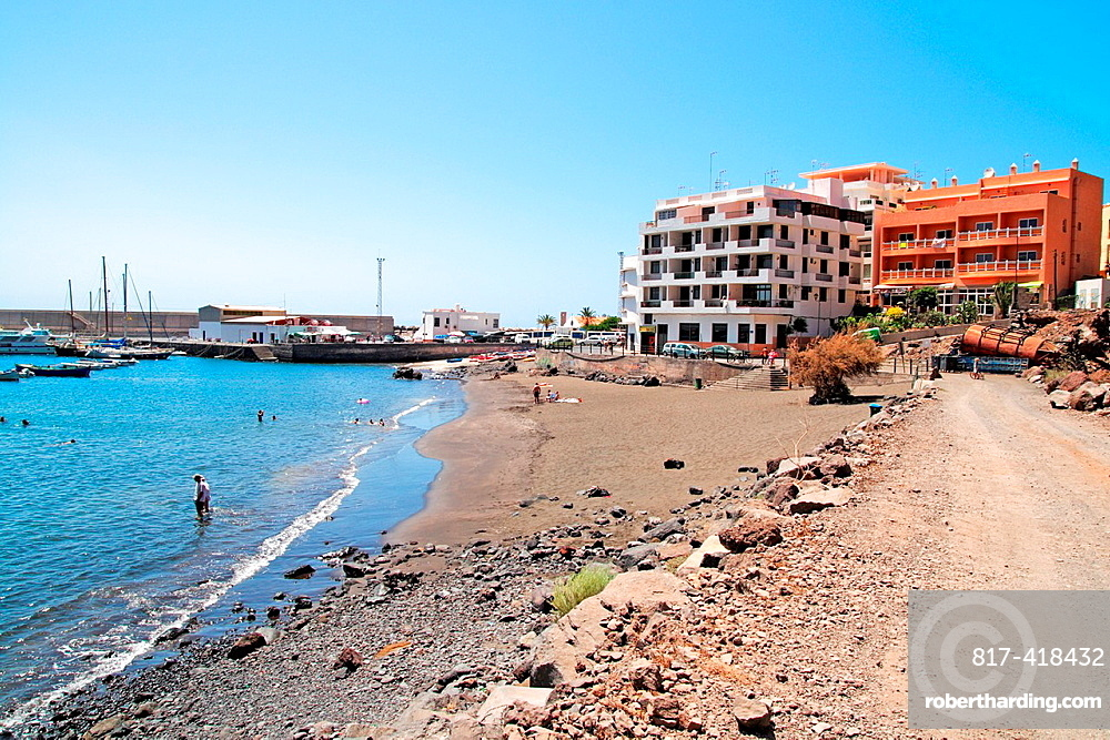 beach in Valle Gran REy municipality La Gomera island
