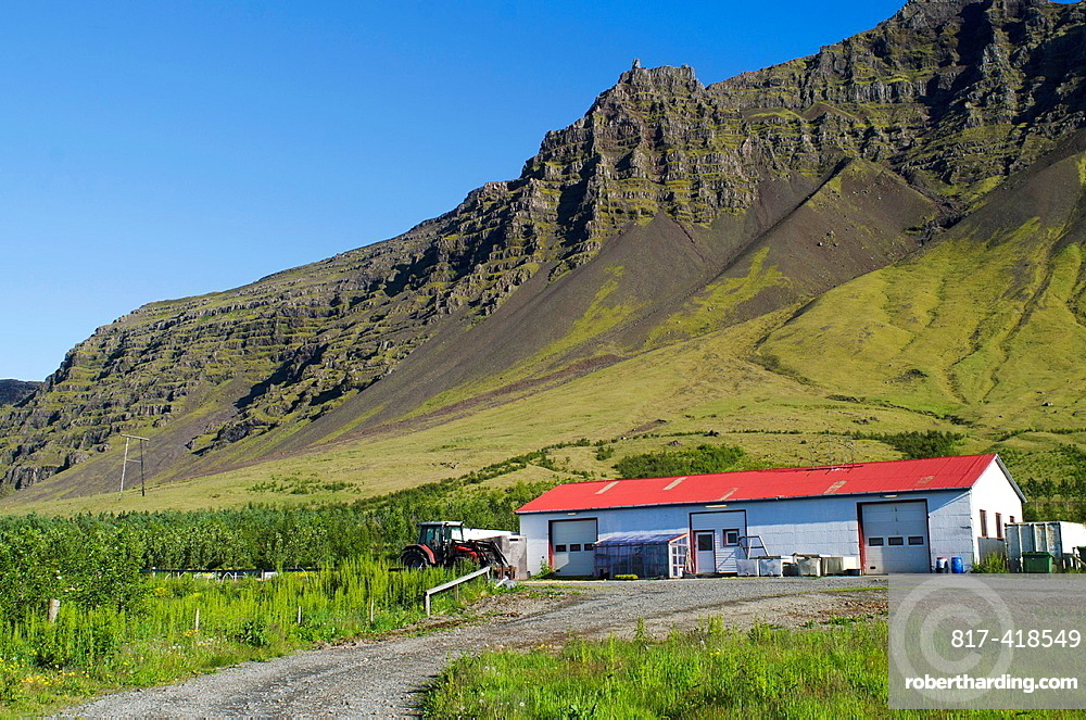 House in Gardur village near of Jokulsarsom lagoon, Iceland