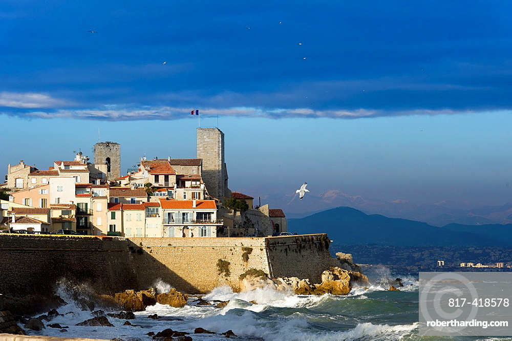 Europe, France, Alpes-Maritimes, Antibes. Old City and its Walls.