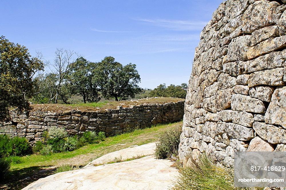 Vetonian Door at Las Merchanas celtiberian fort, Vetones tribe, Lumbrales, Salamanca, Castilla y Leon, Spain