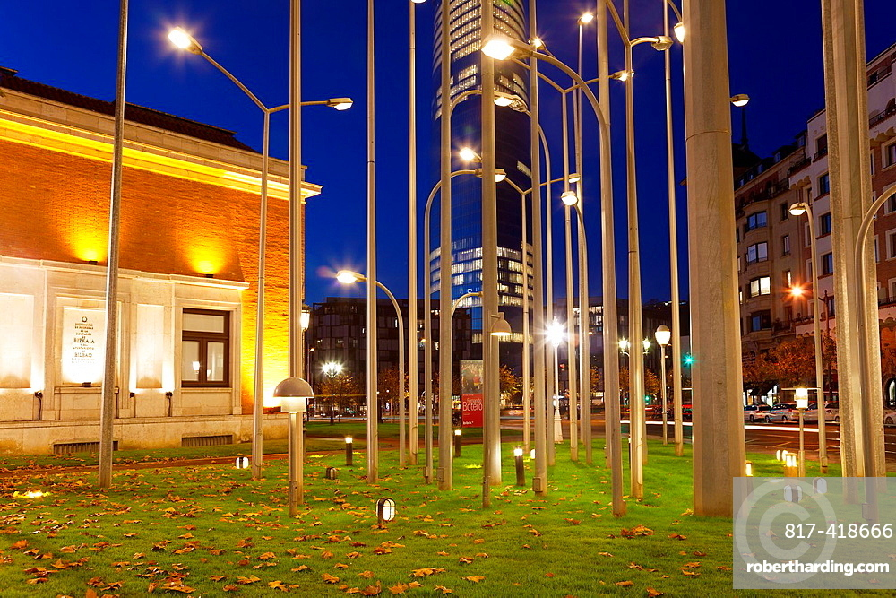 Streetlamp forest, Bilbao, Bizkaia, Basque Country, Spain