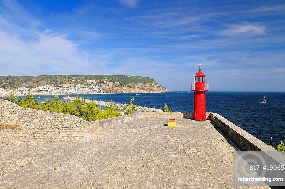 Lighthouse of forte do Cavalo, Sesimbra Bay, Portugal