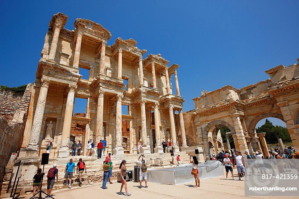 Celsus Library Ephesus Archaeological Sitee, Izmir province, Turkey