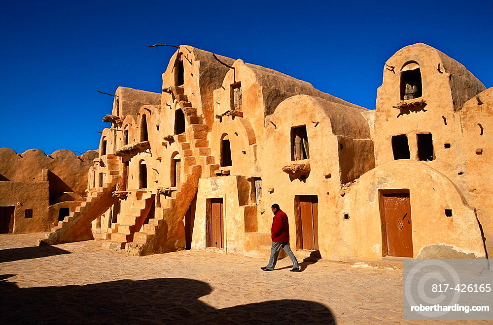 Ksar Ouled Soltane Gorfhas from 11th-13th century Berber buildings Tataouine Southern Tunisia.