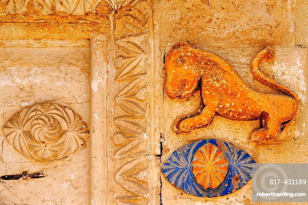 Entrance to a former Greek house, Mustafapasa (former Sinasos), Cappadocia, Turkey