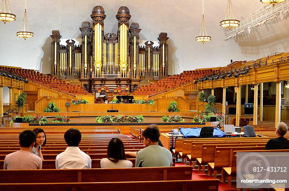 Salt Lake City Utah Usa Tabernacle At The Mormon Temple.