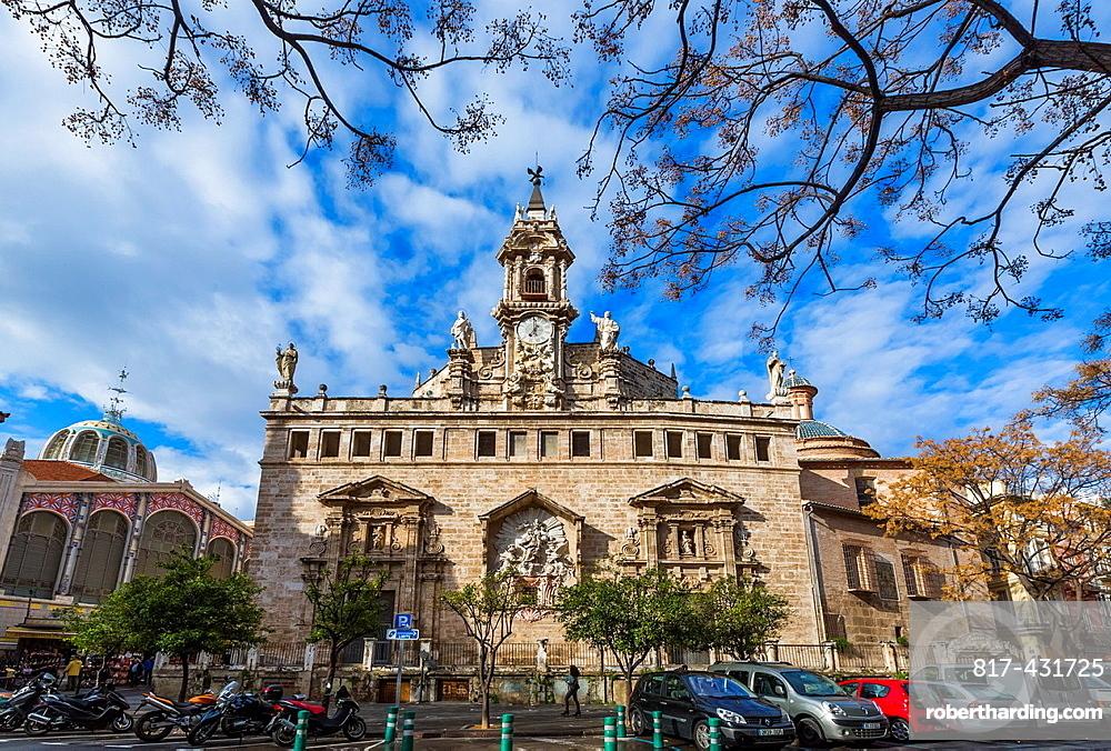 Santos Juanes church Gothic style in its origins, rebuilt in a Barroc style, Valencia  Comunidad Valenciana, Spain