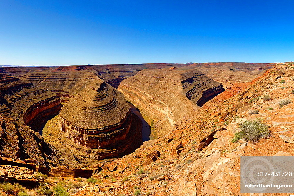 USA, Utah, Colorado plateau, San Juan river, Goosenecks State Park.