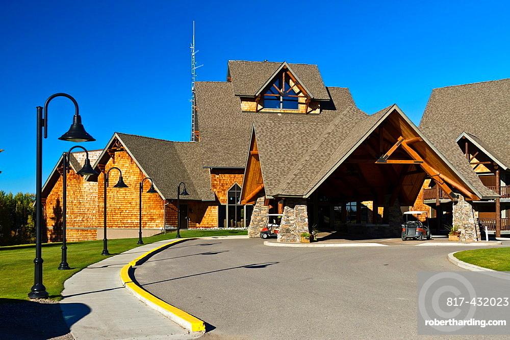 The Elk Ridge Resort main lodge building on Waskasiu Lake, Saskatchewan, Canada