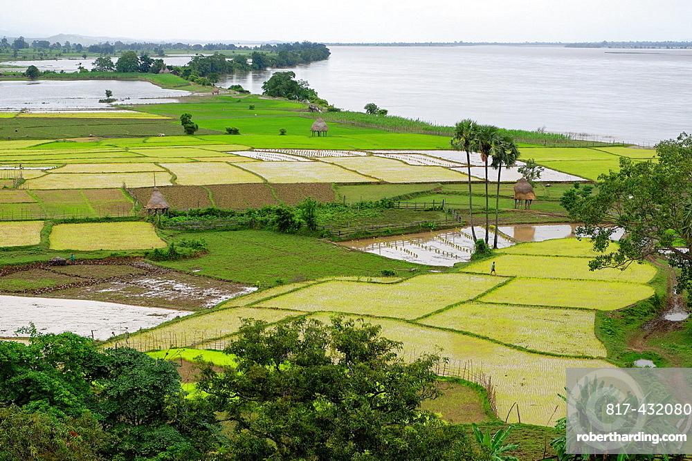 Thagara village Along the Irrawady river Sagaing Division Burma Republic of the Union of Myanmar.