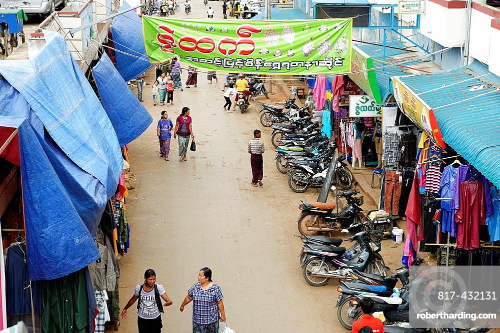 The market Lashio Shan state Burma Republic of the Union of Myanmar.