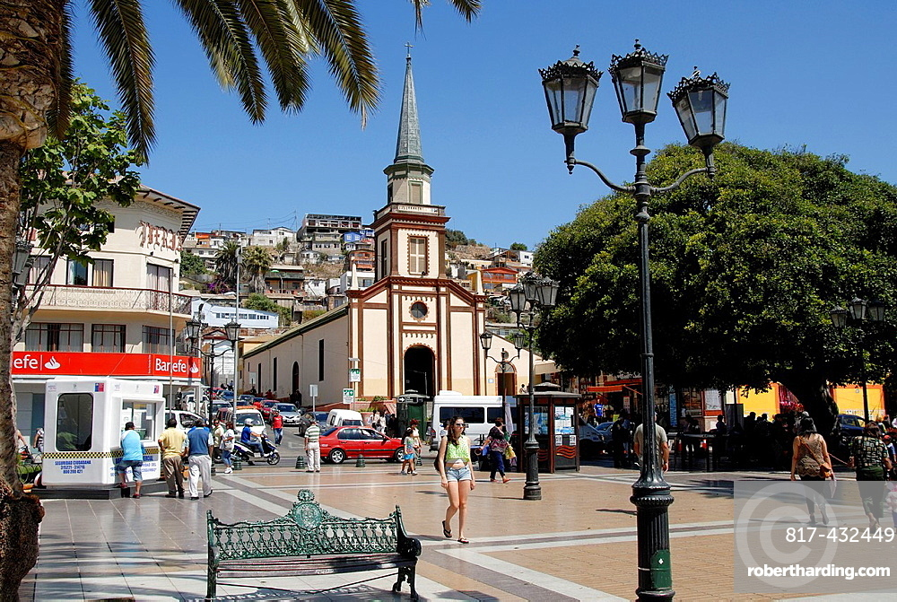 Main square of the city of Coquimbo Chile