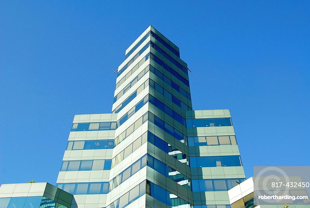 Modern building on Av El Bosque in Santiago Chile