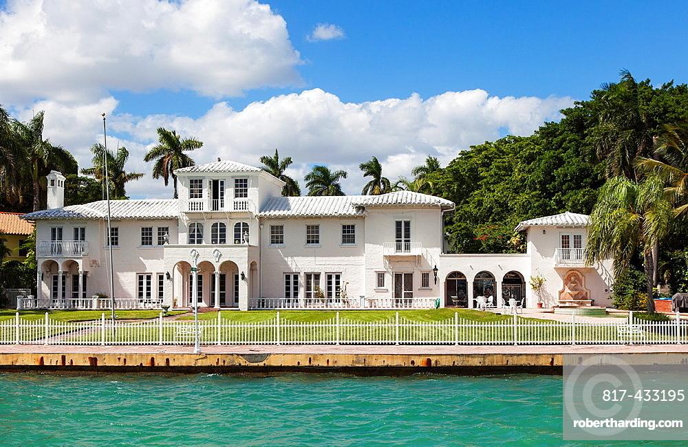 The ' Scarface Mansion', Star Island, Miami Beach, USA