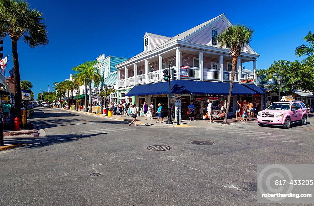 Streets of Key West, Florida, USA