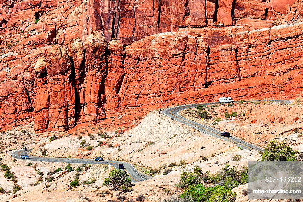 The Road into Arches NP, Utah, USA
