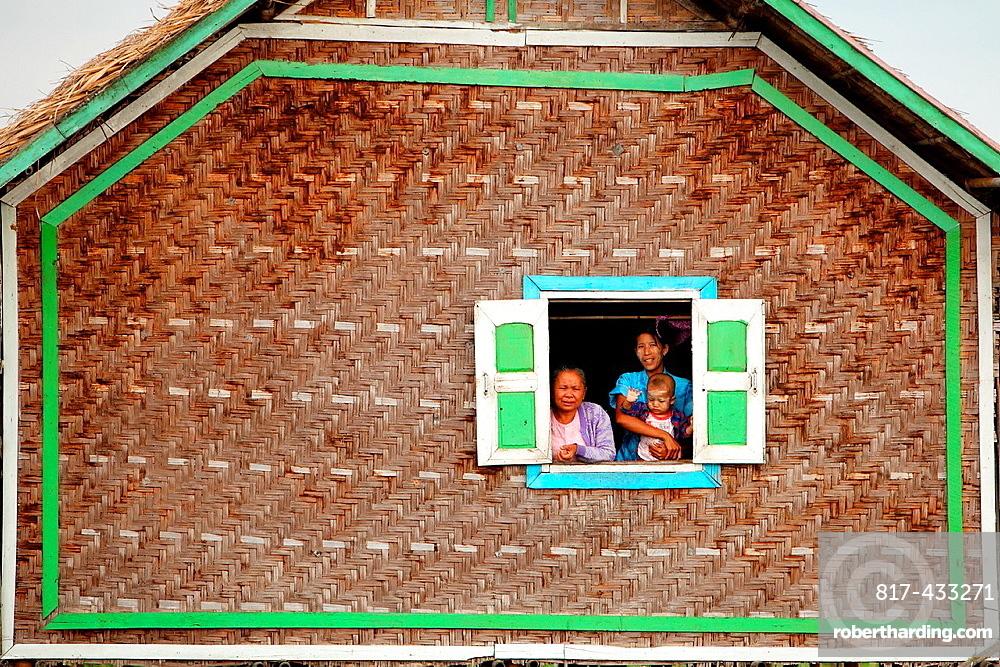 Life on pile-dwellings, Inle Lake, Shan states, Burma