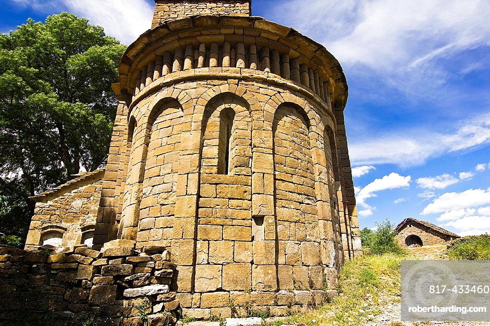 Apse of the church Mozarabic, Romanesque Santa Eulalia de Susin, Biescas, Serrablo, Alto Gallego, Huesca Province, Aragon, Aragon Pyrenees, Spain, Europe