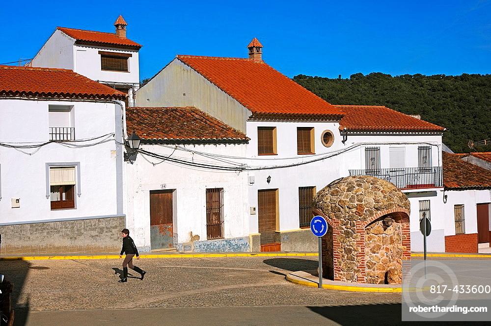 Urban view, La Nava, Huelva-province, Spain,