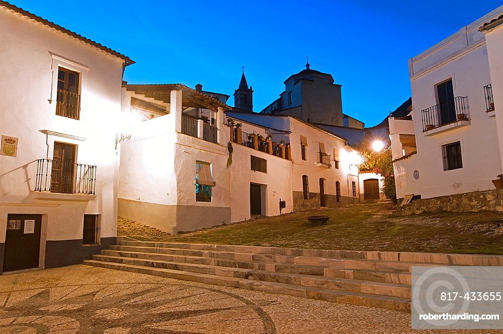 Fountain Square, Linares de la Sierra, Huelva-province, Spain