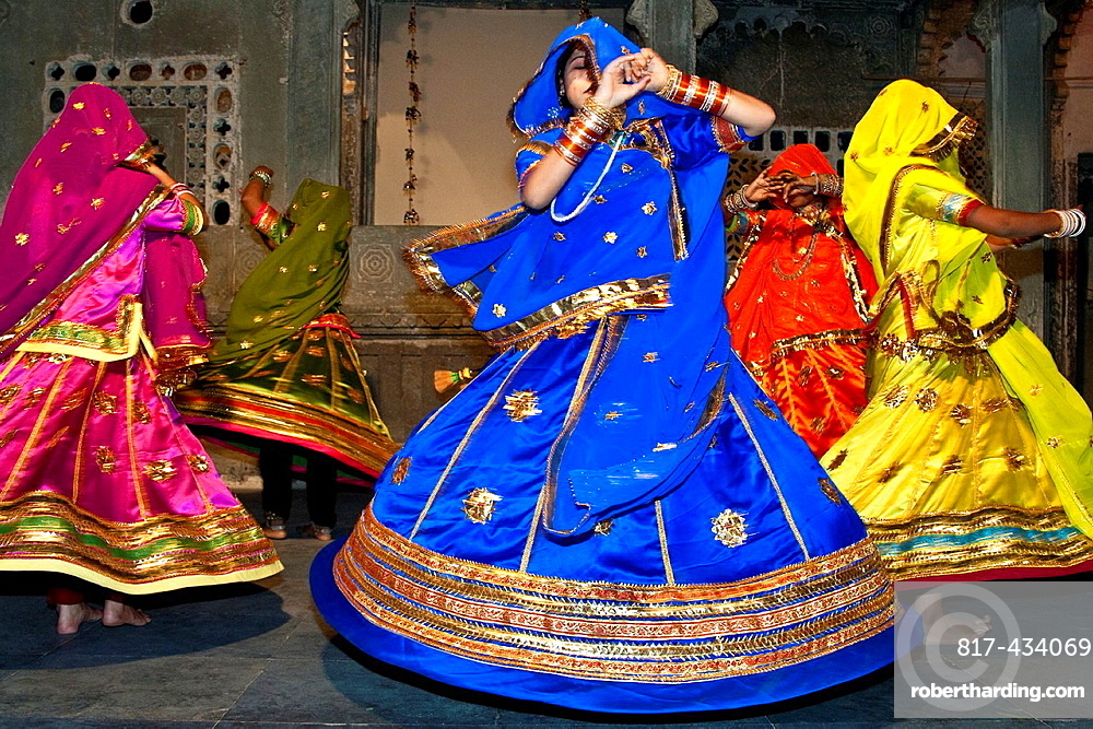 Traditional Rajasthani Dance Show, Udaipur, India,