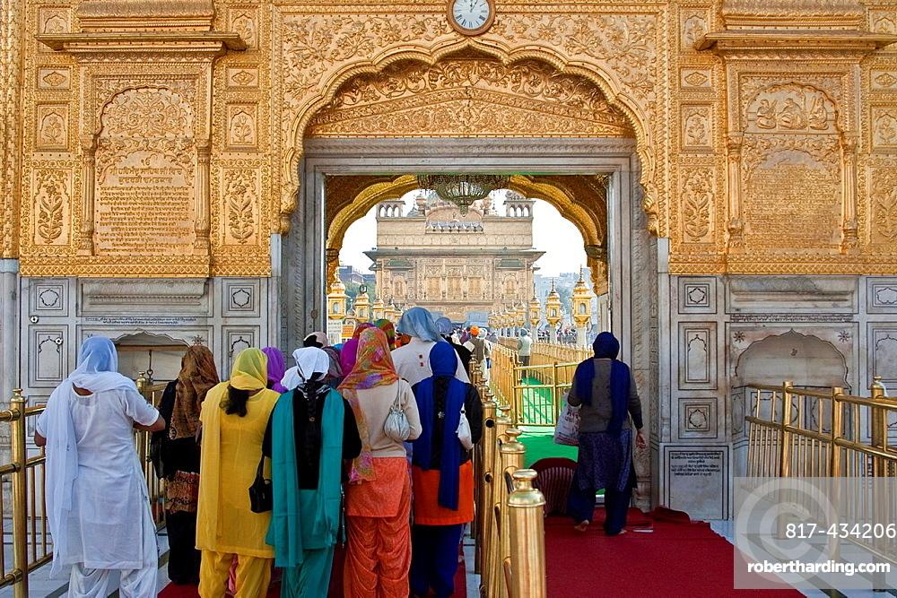 The Entrance to The Golden Temple of Amritsar, aka The Harmandir Sahib or Hari Mandir Punjab, India