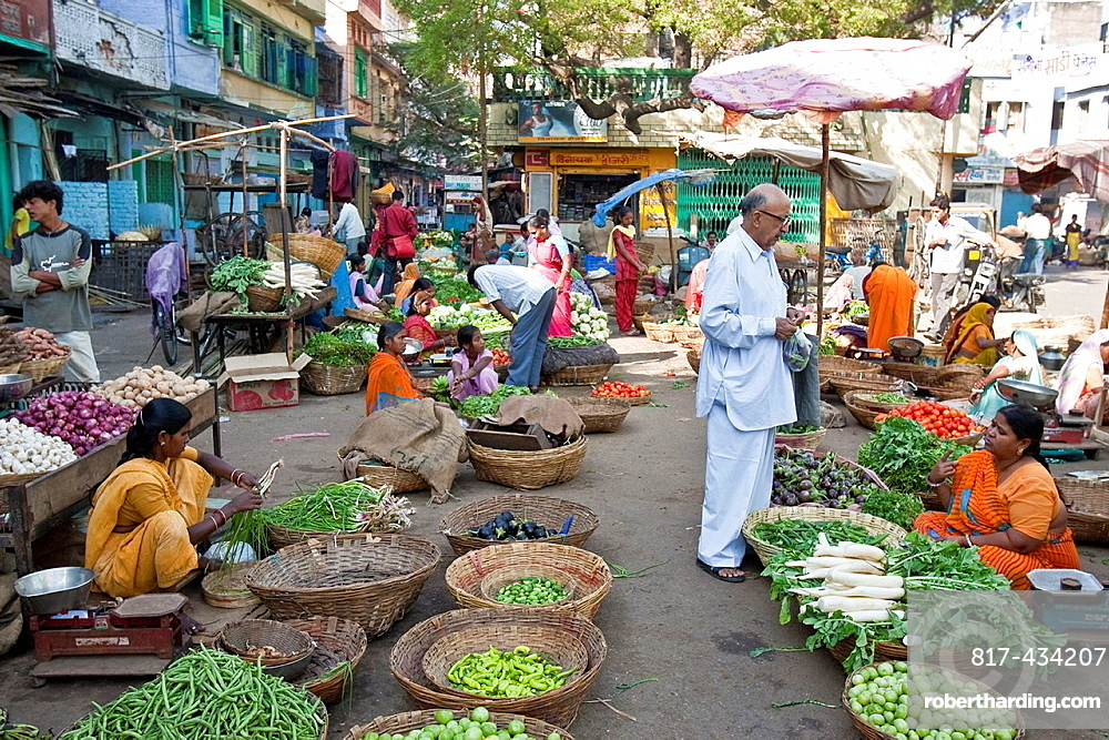 Fruit and Vegetable Market, Udaipur, Rajasthan, India