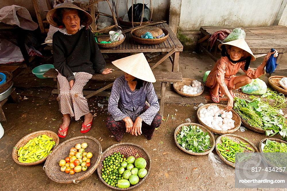 Colourful Street Market, Hoi An, Vietnam,