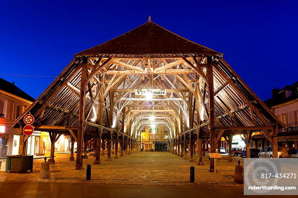Center town of Milly la foret, Essonne, Ile de France, France