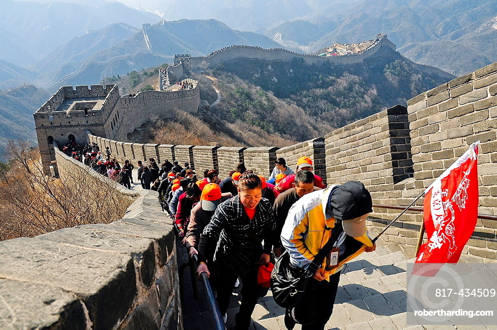 Badaling section of The Great Wall, China, Asia.
