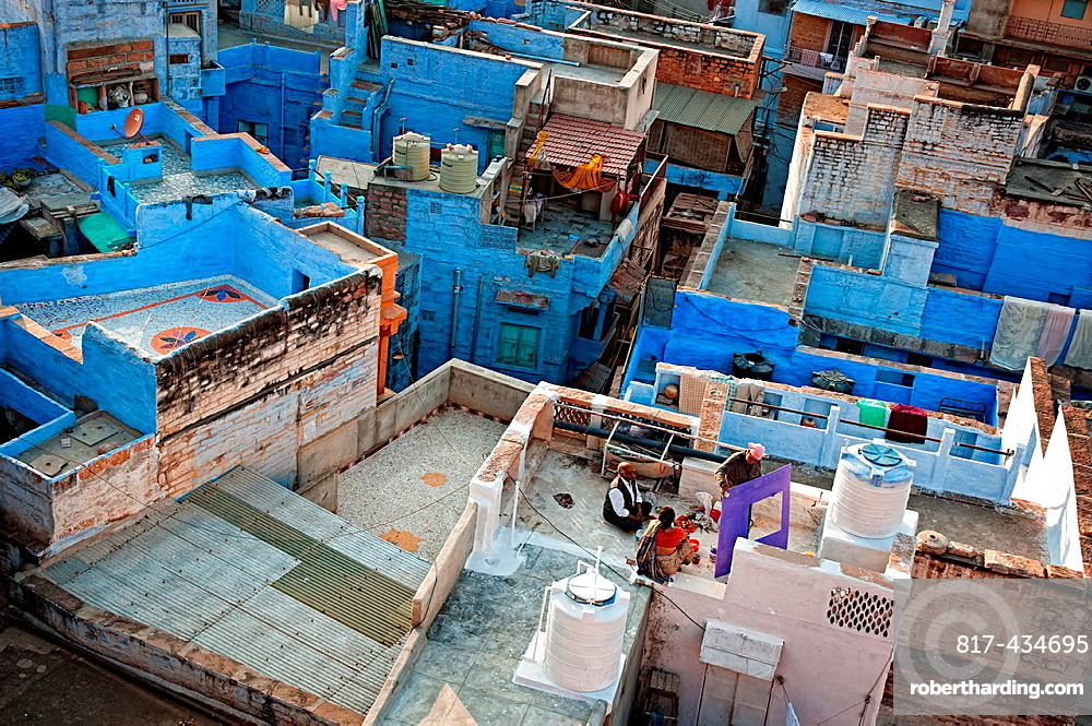Rooftops of the blue city Jodhpur, Rajasthan, India