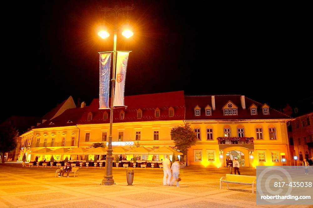Historycal building, Sibiu, Transylvania, Romania, Europe,
