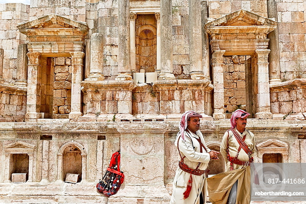 Theatre in jerash ruins. jordan.