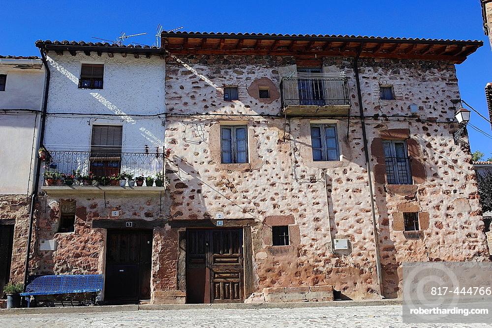 Traditional architecture. Rasillo de Cameros, La Rioja, Spain