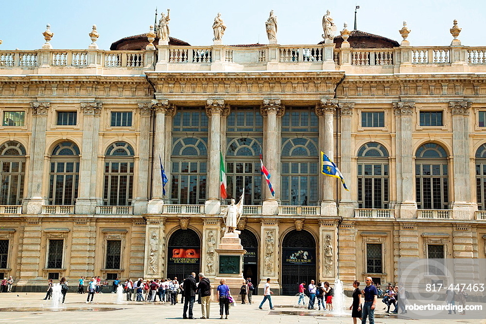 The Palazzo Madama in Piazza Castello which houses the Civic Museum of Ancient Art in Turin Italy.