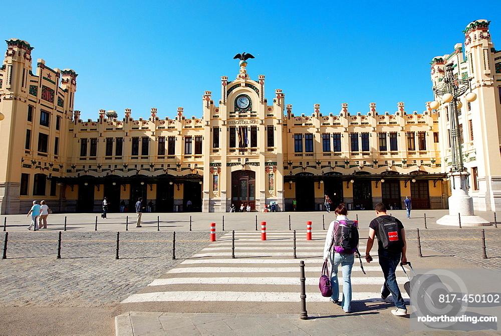 Railway station. Valencia. Comunidad Valenciana. Spain.