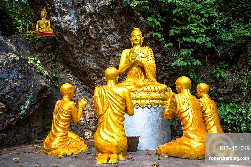 Wat Chom Si on Mount Phousi in Luang Prabang, Laos.