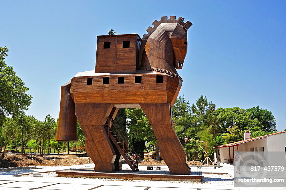 Wooden horse at ancient Troy, Biga Peninsula, Turkey
