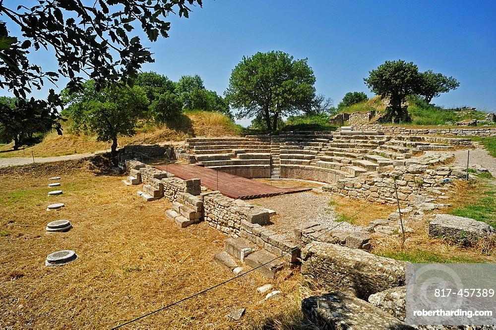 Roman Odeion, Troy Historic Site, Biga Peninsula, Turkey.