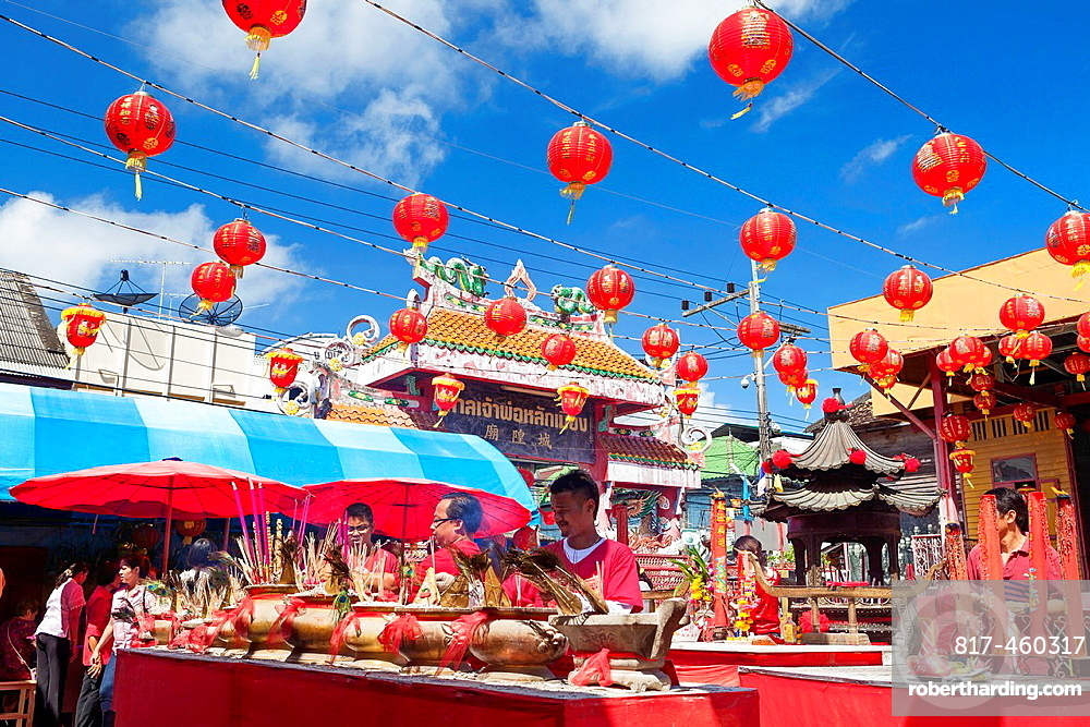 Chinese new year celebrations held at Songkhla city pillar shrine.