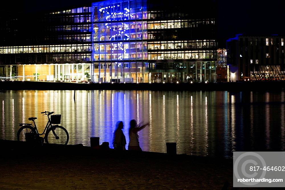 Waterfront at night, Copenhagen, Denmark