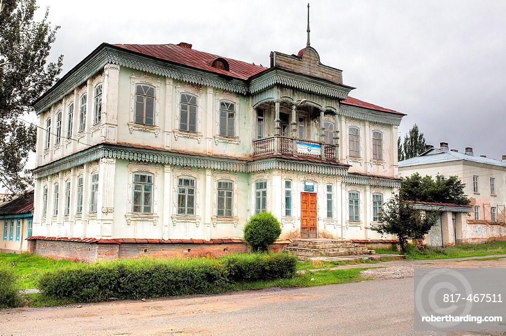 Old house, Karakol, Issyk Kul oblast, Kyrgyzstan.