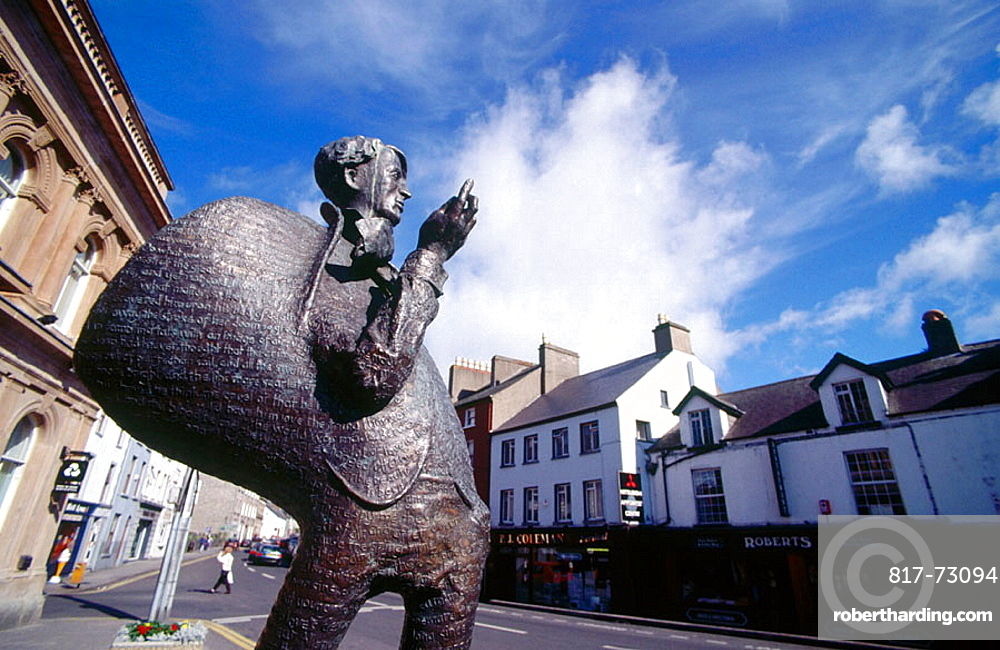 Monument to poet W, B, Yeats, Sligo, Co, Sligo, Ireland.