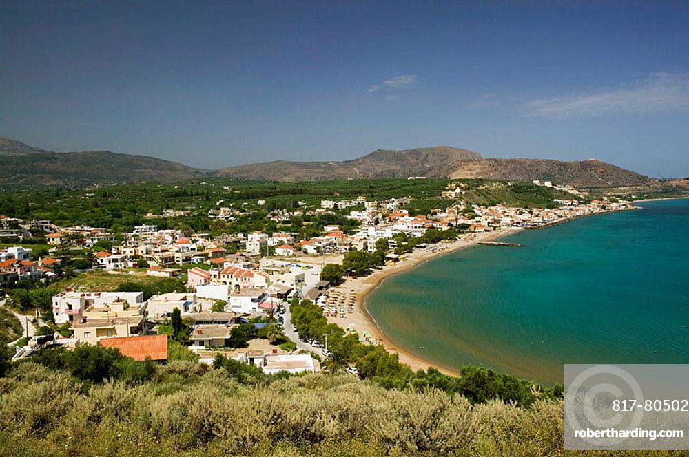 Kalyvia Bay Resort Town,  Waterfront View, Kalyves, Hania Province, Crete, Greece.