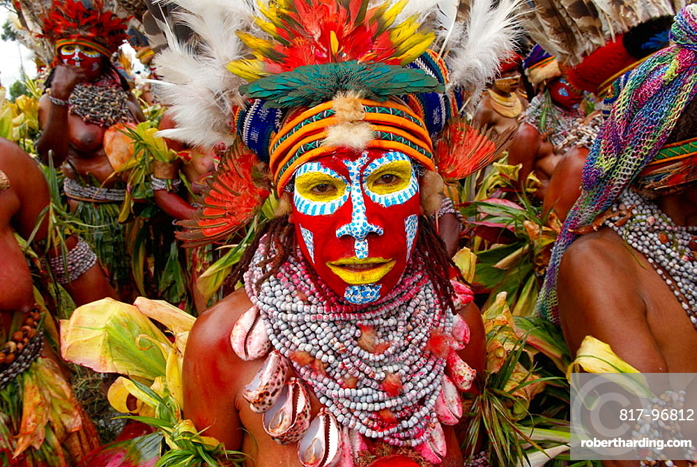 Sing-sing annual tribal gathering, Mount Hagen Cultural Show, Western Highlands, Papua New Guinea