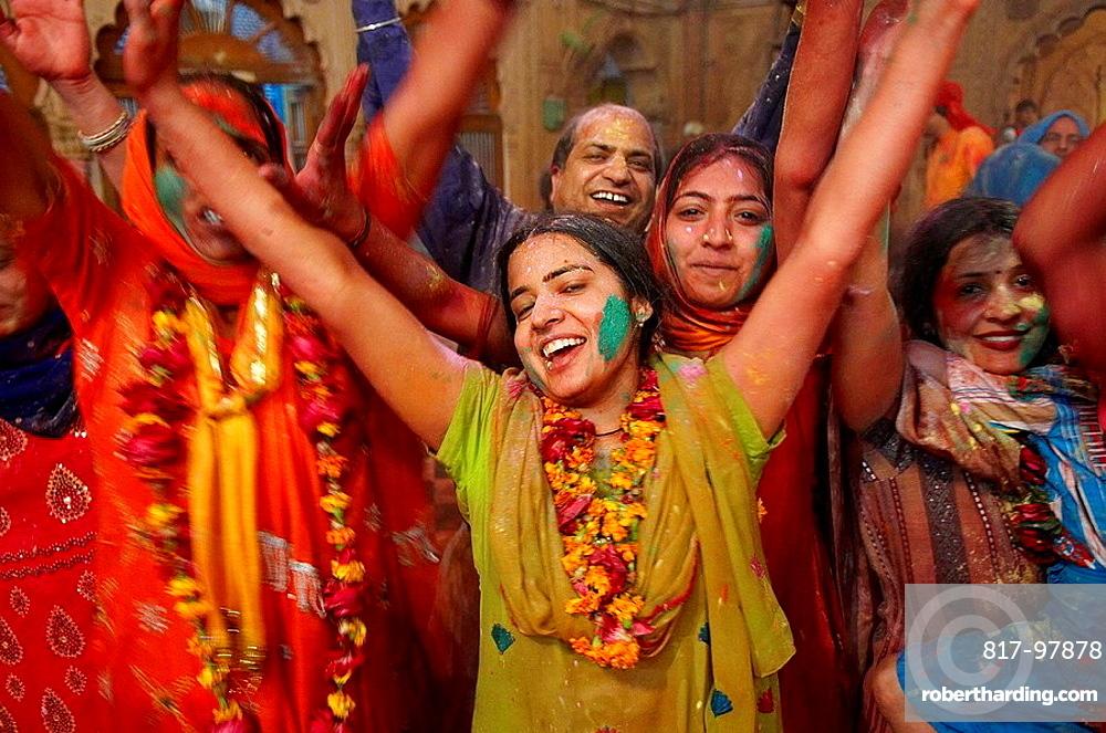 India, Holi festival, color and spring festival.