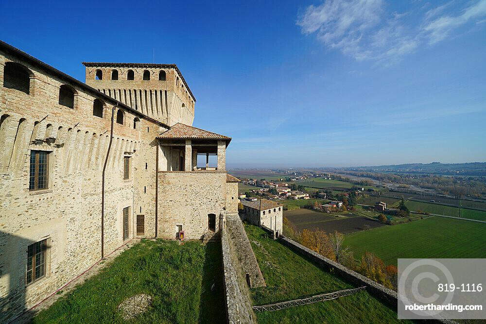 Torrechiara Castle, Langhirano, Parma, Italy, Europe