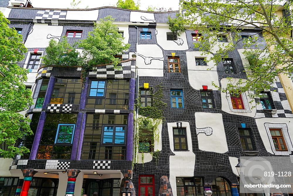 The KunstHaus Wien is a museum in Vienna, designed by the artist Friedensreich Hundertwasser, Vienna, Wien, Austria, Europe