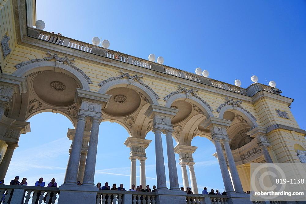 The Gloriette in the Schönbrunn Palace gardens, Vienna, Wien, Austria, Europe